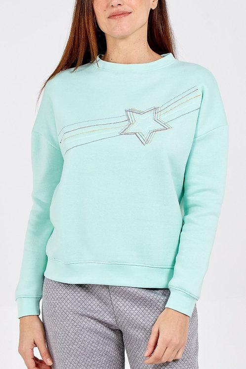 Susie shooting star jumper in mint