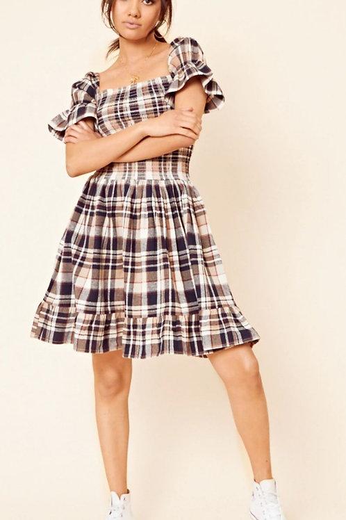 Bassie Check Mini Dress