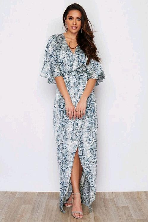 Orla Mint Snakeskin Maxi Dress