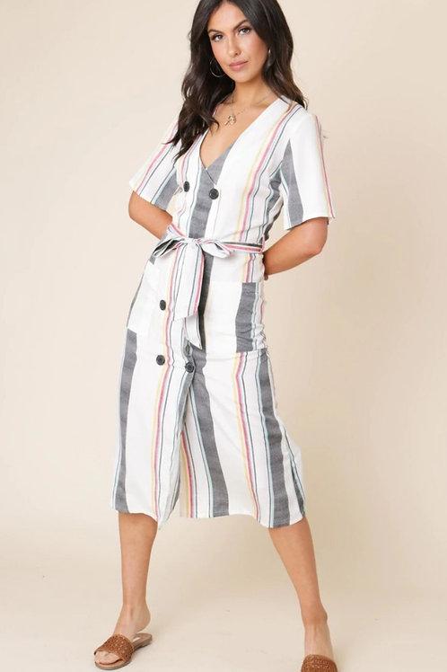 Zion Stripe Midi Dress