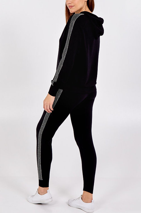 Imogen Studded Loungeset in Black