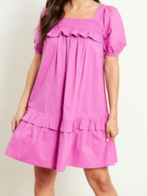 Polly Pink Mini Dress