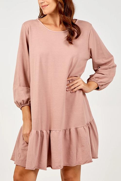 Charmaine Pink Scoop Back Mini Dress