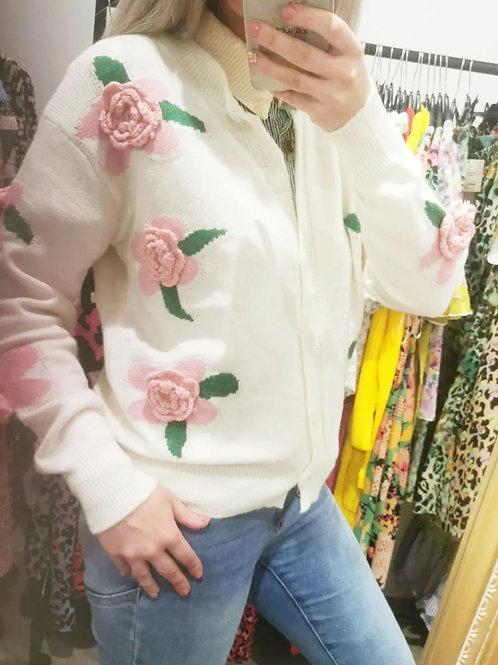 Arabella 3D Floral Cardigan