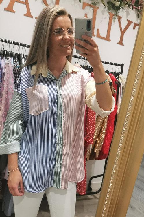 Nora Silky Striped Shirt