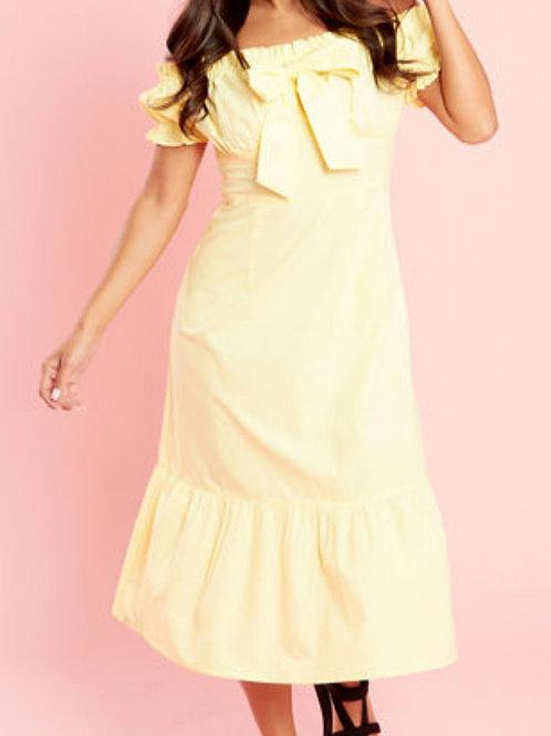 Megan Lemon Bardot Midi Dress