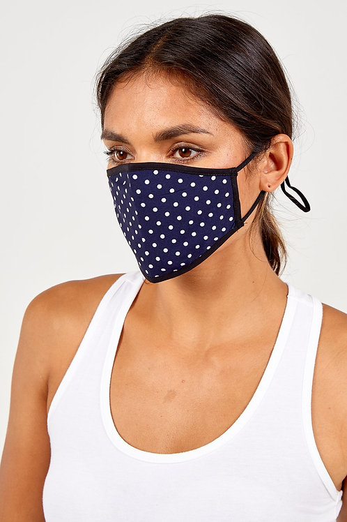 Reversible Navy with White Spot Mask