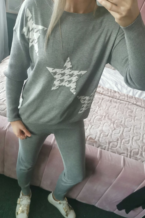 Lola Star Loungeset Two-Piece in Grey