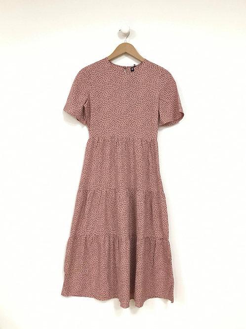 Kelly Spot Midi Dress in Pink