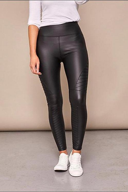 Kirsty Biker Faux Leather Leggings In Black