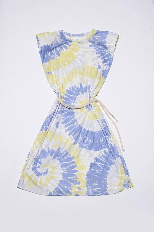 Charlie Tie-Dye Mini Dress in Lilac