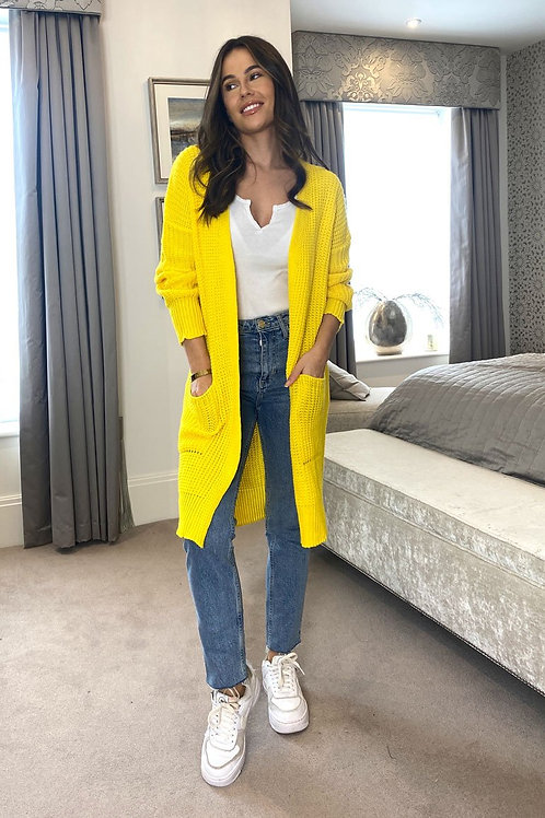 Tara Yellow Cardigan