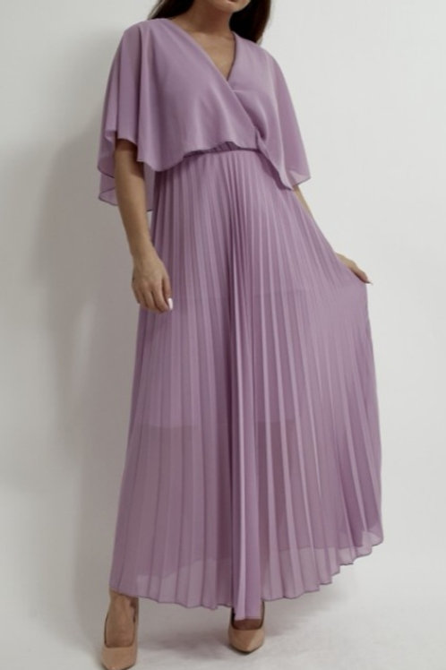 Orla Pleated Dress in Lilac