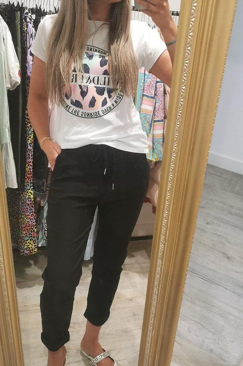 Farrah Plain Trousers in Black