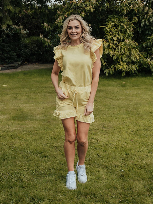 Orlaith Frill Two Piece Set in Yellow