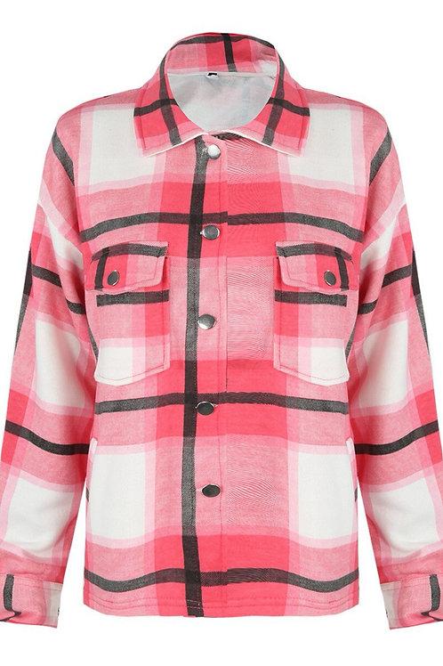 Luena Pink Check Shacket