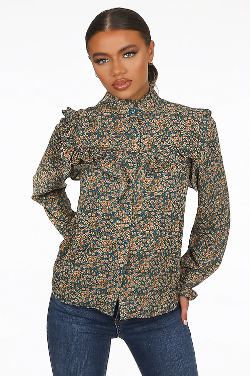 Sally floral blouse