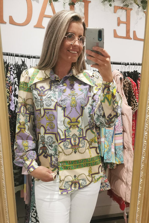 Ria Printed Shirt in Lilac
