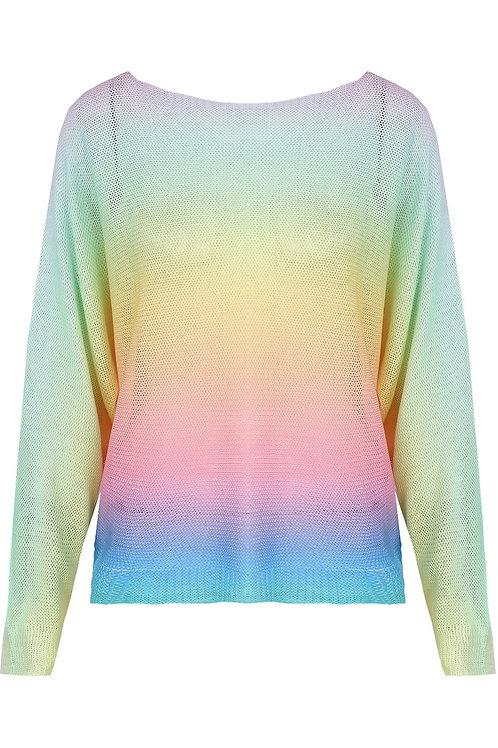 Elsie Fuschia Rainbow Light Top