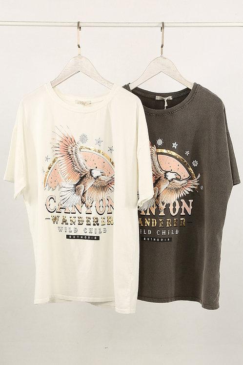 Tabitha Eagle T-shirt in White or Grey