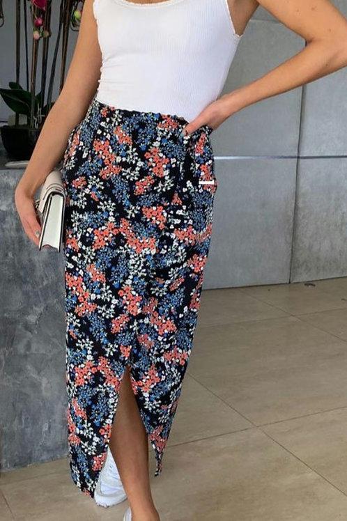 Esme Floral Midi Skirt with underskirt