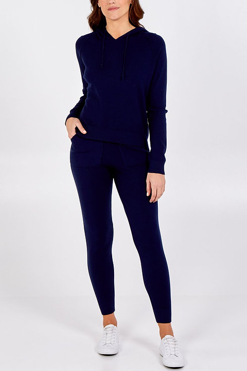 Adley Navy Burst Seam Hoodie and Jogger Two Piece