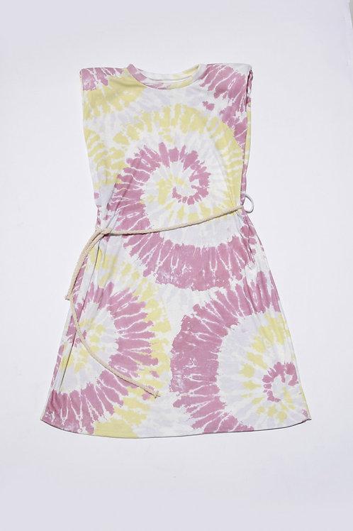 Charlie Tie-Dye Mini Dress in Pink