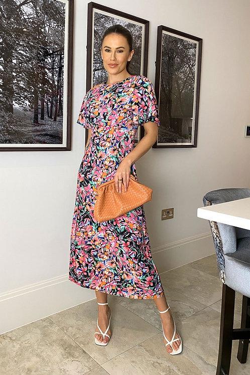 Polly Bright Floral Midi Dress
