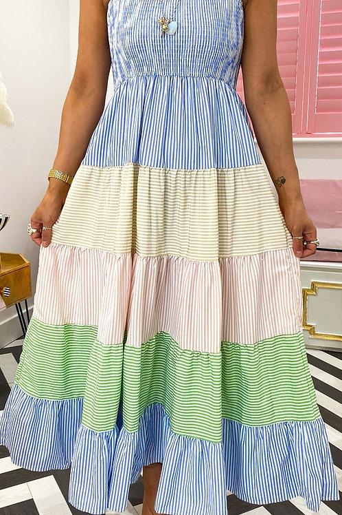 Georgia Striped Summer Dress