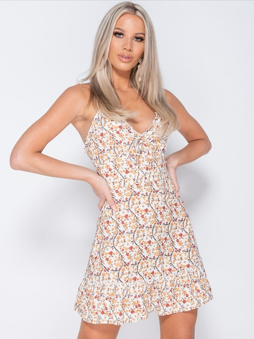 Terri floral strap mini dress