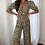 Thumbnail: Imogen Puff Sleeve Orange Floral Jumpsuit