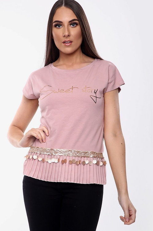 Sweet Story T-shirt in Pink