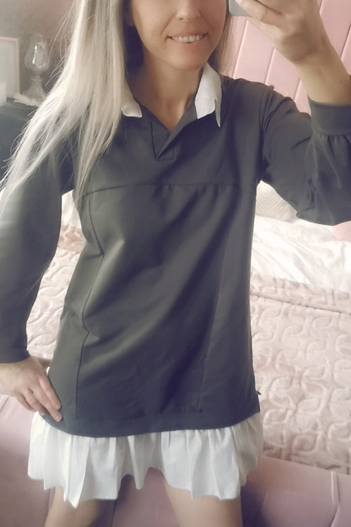 Portia Khaki Shirt/Sweater Dress