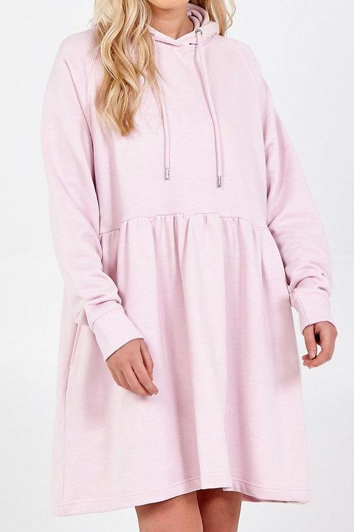 Jess Pink Hooded Dress
