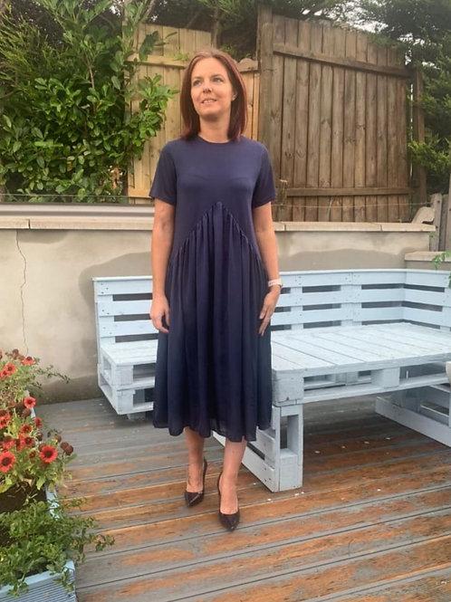 Darcey Dress in Navy
