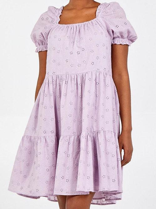 Alice Summer Smock Dress in Lilac