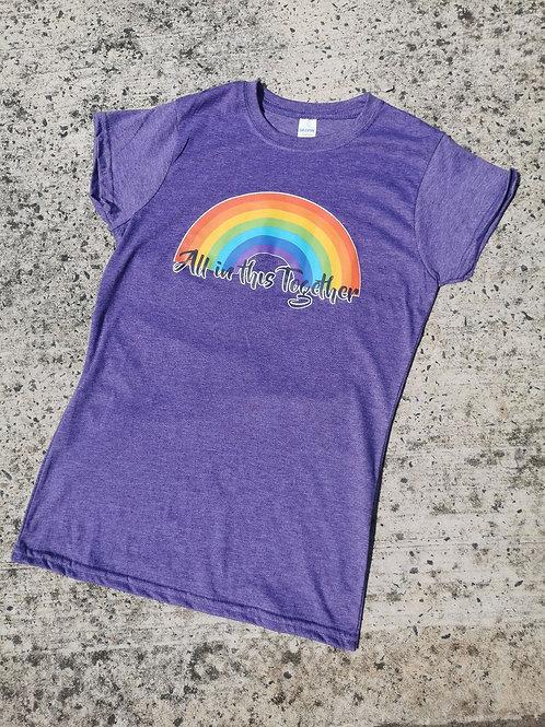Charity Rainbow T-shirt in Purple