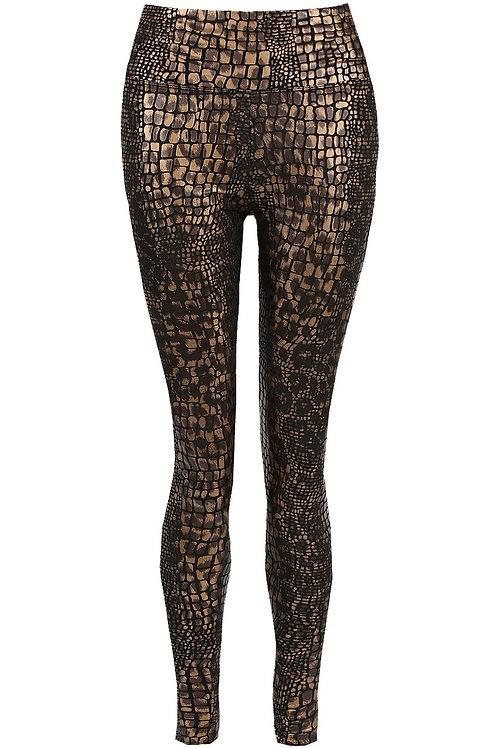 Sophie Reptile Gold Metallic Leggings