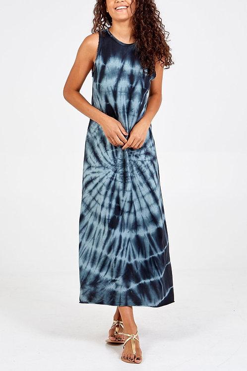 Melissa Tie-Dye Maxi Dress in Black