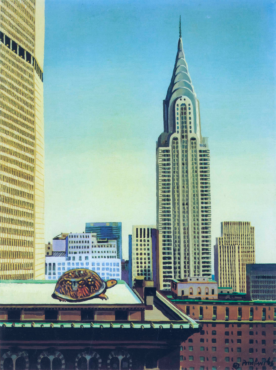 Chrysler Tower with Turtle, 1983