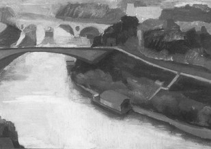 The Tiber in Winter, 1957