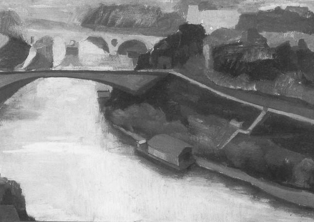The Tiber in Winter, 1957