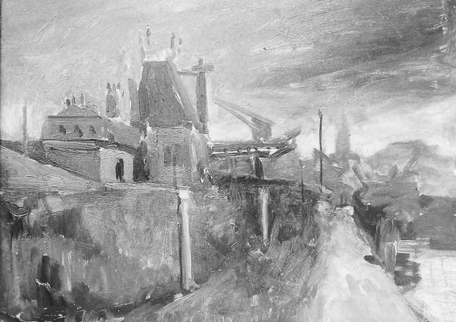 Dusk, the Seine, 1955