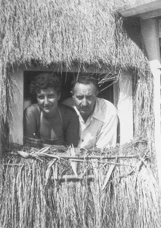 With Father, Tor San Lorenzo 1952