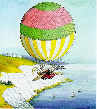 Crossing the English Channel (Blanchard & Jeffries) 1785, 1999