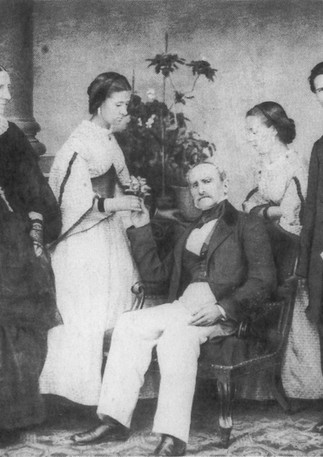 Great-grandmother Paola Morschene (1st from left) and family