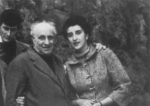 With Roberto Melli, 1954