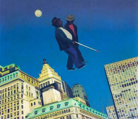 Blind Man over Broad Street, 1974