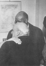 With Corrado Cagli and Roberto Melli, 1955