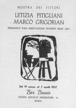 Cover, Bar Bruzio Catalog, 1952